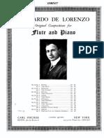 Leonardo De Lorenzo - Serenata for Flute and Piano