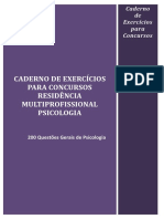 Caderno de Exercícios Residência Multiprofissional Psicologia
