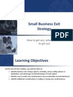 311 Small Business Exit Strategy n