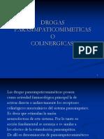 Drogas Parasimpaticomimeticas o Colinergicas