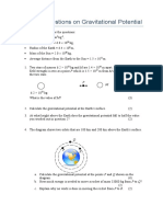 practice questions on gravitational potential