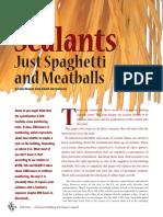 Sealants Just Spaghetti and Meatballs