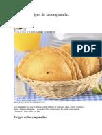 Cuál Es El Origen de Las Empanadas