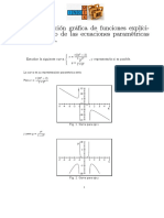 Representación Gráfica de Funciones Explícitas Partiendo de Las Ecuaciones Paramétricas de Una Curva