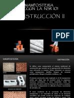 MAMPOSTERIA - CONSTRUCCION