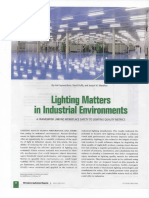 Lighting Matters in Industrial Environment