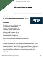 Análisis de La Administración Estratégica - GestioPolis