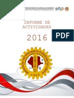 Informe de Actividades 2016
