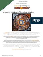 A Interpretação Do Mapa Astrológico