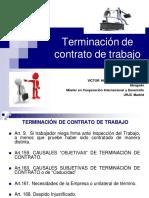 Terminación Contrato de Trabajo