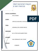 Desarrollo Del Examen de Servicios Auxiliares e Instalaciones Mineras