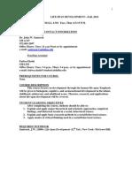 UT Dallas Syllabus for psy4334.001.10f taught by John Santrock (santrock)