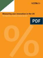 Measuring user innovation in the UK