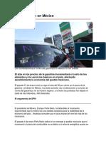 El Gasolinazo en México