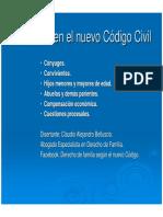 Alimentos en El Nuevo Codigo Civil y Comercial-power - Dr. Belluscio (6-May)