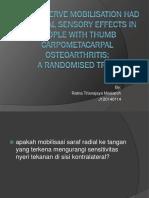 Radial Nerve Mobilisation Had Bilateral Sensory Effects In