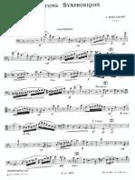 Boëllmann, Léon - Variations Symphoniques, Op.23 for Cello and Orchestra (solo cello part)