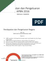 Pendapatan Pengeluaran APBN 2016