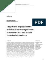 Performing Islam Volume 4 Issue 2 2015 [Doi 10.1386%2Fpi.4.2.151_1] Afzal-Khan, Fawzia -- The Politics of Pity and the Individual Heroine Syndrome- Mukhtaran Mai and Malala Yousafzai of Pakistan