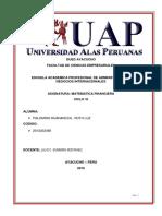 Trabajo Academico de Matematica Financiera UAP