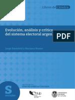 Análisis Evolucion y Critica Del Sistema Electoral Arg