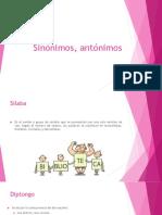4. Sinónimos, antónimos