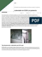 Cómo Definimos Un Calentador en CE3X y Su Potencia Nominal