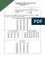 Modellsatz B2-C1 HV Antwortblatt