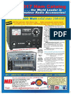 MFJ 2017 Ham Radio Catalog | Coaxial Cable | Antenna (Radio)