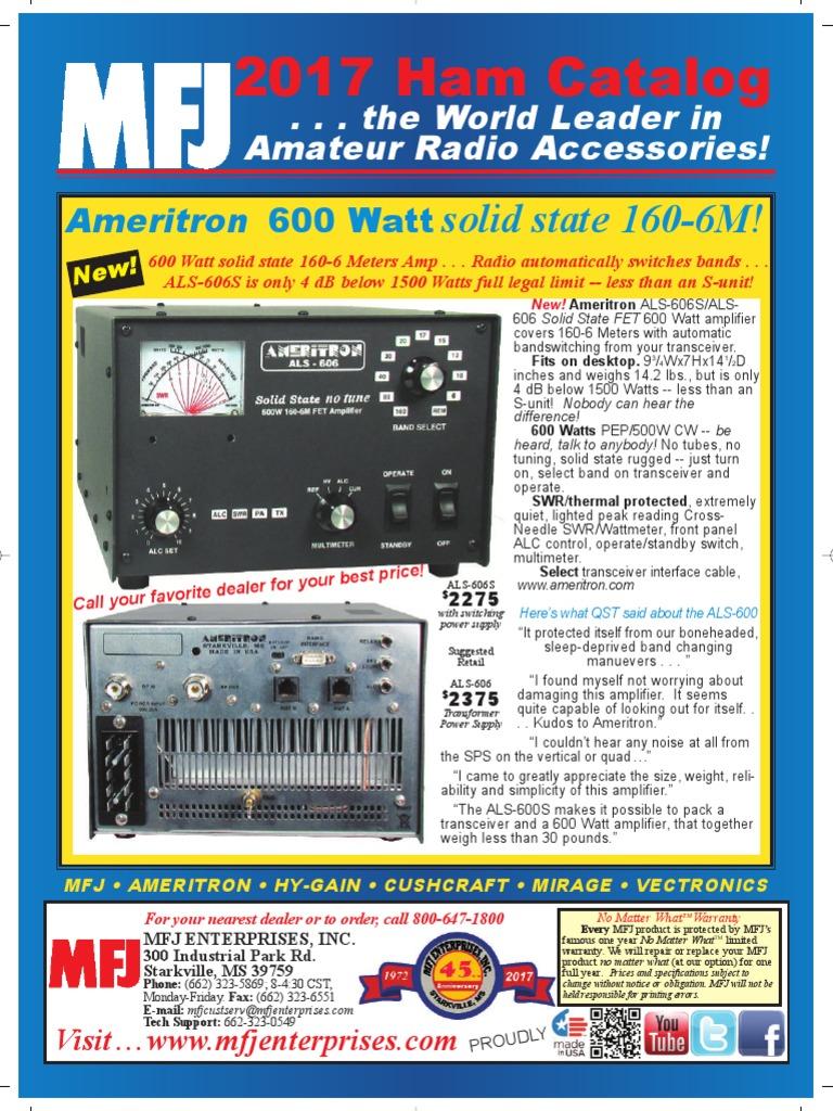 Mfj 2017 Ham Radio Catalog Coaxial Cable Antenna Single Transistor Amplifier Revisited 8211 Part 1