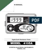 KEW4105 Manual