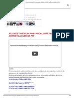 RAZONES Y PROPORCIONES PROBLEMAS RESUELTOS ARITMÉTICA RUBIÑOS PDF.pdf