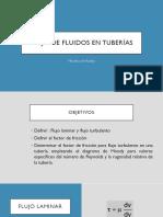 Flujo de Fluidos en Tuberías