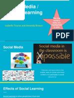 social media tech in classroom presentation