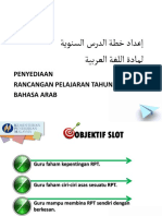 Penyediaan RPT Bahasa Arab