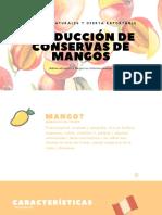 Producción de Conservas de Mangos