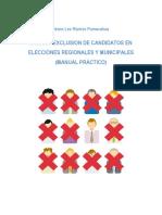 Tacha y Exclusion de candidatos en Elecciones Regionales y Municipales