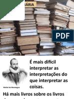 - 8 Crítica Literária