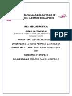 Ejercicios Sobre La Ley de Ohm, Resistencia en Serie, Paralelo y Mixto Unidad 3 Actividad 2 Rigel Didier López Wong 5751 Mecatrónica 3b