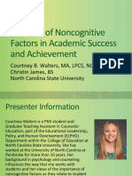 the role of noncognitive factors in academic success