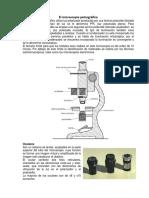 El Microscopio Petrografico Partes