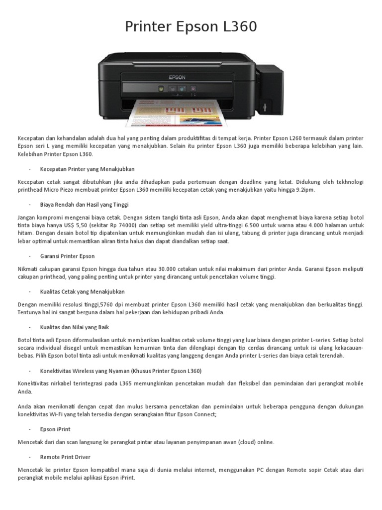 Printer Epson L360 L 360 1537630491v1