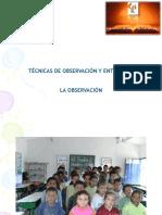 Tecnicas de  Entrev. y Observ. ppt