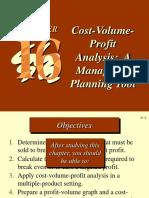 Cost Volume Profit Ch 11