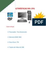 Características Del Cpu Core i5