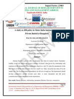 paper-2A study on HR policy in Molex India business services Private limited at Bangalore
