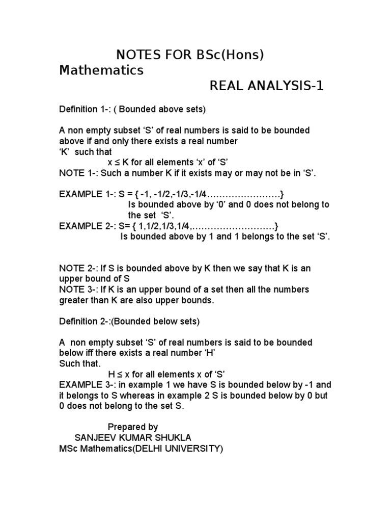 real analysis notes (7 9K views)