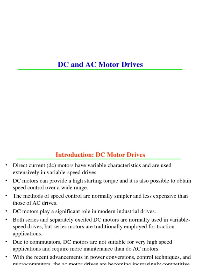 Dc And Ac Motor Drives Gdlc Rectifier Electric Speed Control Circuit Reversing Polarity