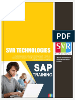 SAP Training - SVR Technologies