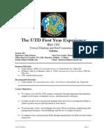 UT Dallas Syllabus for rhet1101.063.10f taught by John Jackson (johnja)